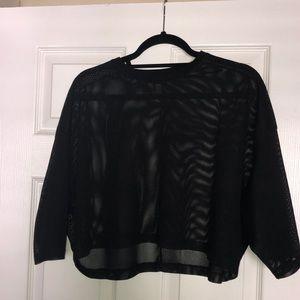 ASOS boxy men's crop tops (mesh and basic black)